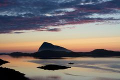 Sunset at Gimsøy Royalty Free Stock Photography