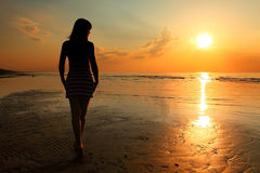 Sunset girl Royalty Free Stock Images