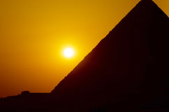 Sunset in Giza Stock Images