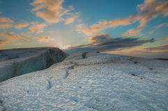Sunset on a glacier Stock Photography