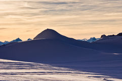 Sunset on a glacier Royalty Free Stock Image