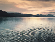Sunset at Glacier Bay, Alaska Royalty Free Stock Photos