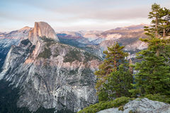 Sunset at Glacier Point in Yosemite National Park, California, USA. Royalty Free Stock Image