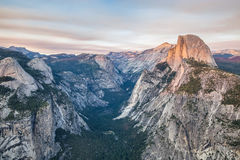 Sunset at Glacier Point in Yosemite National Park, California, USA. Stock Photo