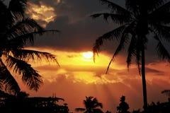 Sunset. Glagah beach jogja stock images