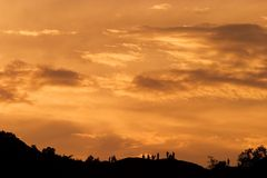 Sunset glow. In the summer evening Royalty Free Stock Image
