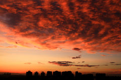 Sunset glow. Beautiful Sunset glow in beijing of china Royalty Free Stock Photos