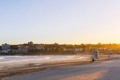 Bondi Glow. Sunset glow at Bondi Beach, Sydney, Australia Royalty Free Stock Image