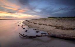 Sunset glow at  Bonna Point NSW Australia Stock Photo