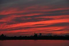 The sunset glow Royalty Free Stock Photos