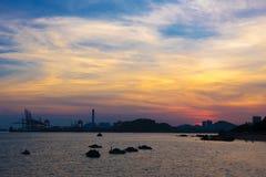 Sunset glow in Gulang Island Stock Photos