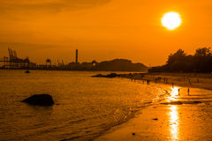Sunset glow in Gulang Island Royalty Free Stock Photo