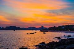 Sunset glow in Gulang Island Stock Photo