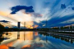 The sunset glow of Guowu lake Royalty Free Stock Photos