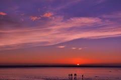 Sunset glow stock photo