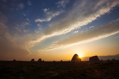 Sunset glow of the Imperial Tombs Stock Photo