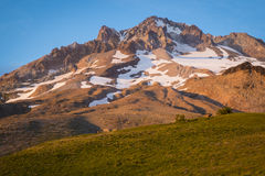 Sunset glow on Mountain, Mt. hood, Oregon Royalty Free Stock Photography