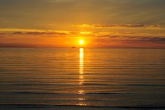 Sunset Glow over the sea and the sky Royalty Free Stock Photo