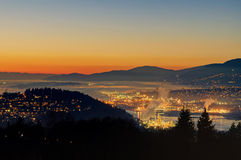 Sunset glow over Vancouver Stock Photos