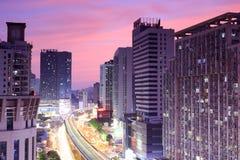 Sunset glow of wucun community Stock Image