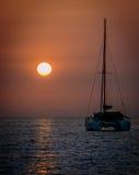 Sunset. Gnejna Bay before night falls Royalty Free Stock Image