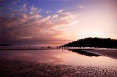 Sunset in Goa. Stunning Sunset at beach in Goa, India Stock Photography