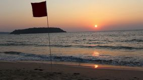 Sunset in Goa, India stock video footage