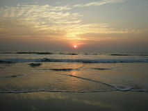 Sunset in Goa. Sunset over Indian ocean in Goa coast of India Stock Image