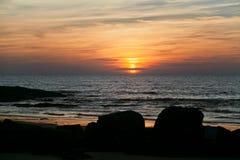 Sunset goa Stock Images