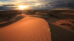 Sunset in the Gobi Desert. Mongolia stock footage