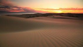 Sunset in the Gobi Desert. Mongolia stock video footage