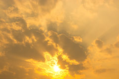Sunset / Gold sky Royalty Free Stock Image