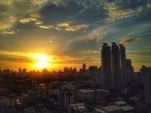 Sunset. The golden sunset Stock Photos
