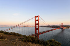Sunset at Golden gate bridge , San Francisco Royalty Free Stock Images