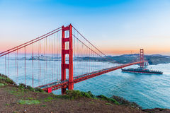 Sunset at Golden Gate Bridge, San Francisco Royalty Free Stock Photo