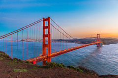 Sunset at Golden Gate Bridge, San Francisco Stock Image