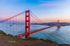 Sunset at Golden Gate Bridge, San Francisco Royalty Free Stock Photos