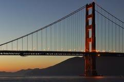 Sunset at Golden Gate Bridge, San Francisco, California, USA royalty free stock photography