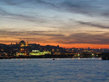 Sunset on Golden Horn bay Stock Photography
