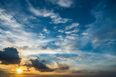 Free Sunset Golden Sunlight Blue Orange And Yellow Tone Dusk Sky Stock Images - 59581044