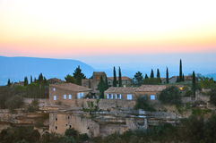 Sunset in Gordes France Stock Photography