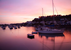 Sunset at Gorey, Jersey Royalty Free Stock Photos