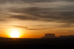 Sunset at Gran Sabana Stock Image