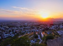 Sunset in Granada, Spain Royalty Free Stock Photography