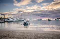Sunset at Grand Baie, Mauritius Stock Image