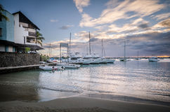 Sunset at Grand Baie, Mauritius Royalty Free Stock Image