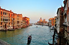 Sunset on  the Grand Canal royalty free stock photos