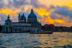 Sunset on the Grand canal royalty free stock images