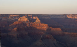 Sunset in Grand Canyon Royalty Free Stock Image