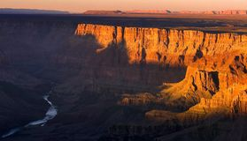 Sunset Grand Canyon. Wonderful sunset in grand canyon Arizona Nov 2008 Stock Image